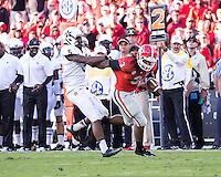 Athens, Georgia - October 4, 2014: The number 13 Georgia Bulldogs beat the Vanderbilt Commodores 44-17 at Sanford Stadium.