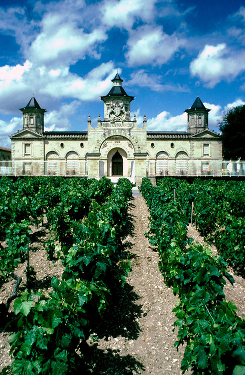 France: Bordeaux. .Chateau Cos d'Estournel in Saint-Estephe...Photo Copyright Lee Foster, 510/549-2202, lee@fostertravel.com, www.fostertravel.com...Photo #: frbord104