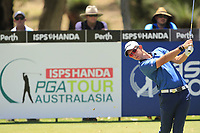 Lucas Herbert (AUS) in action on the 2nd during Round 1 of the ISPS Handa World Super 6 Perth at Lake Karrinyup Country Club on the Thursday 8th February 2018.<br /> Picture:  Thos Caffrey / www.golffile.ie<br /> <br /> All photo usage must carry mandatory copyright credit (&copy; Golffile | Thos Caffrey)