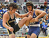 Brandon DeVivio of Long Beach, right, battles, Joseph Conklin of Wantagh at 170 pounds during the Nassau County Divsision I varsity wrestling quarterfinals at Hofstra University on Saturday, Feb. 11, 2017. DeVivio won by match by decision 8-3.