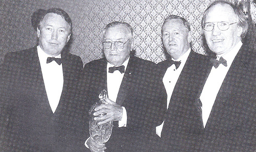 John G Sisk (second left) with his sons John, George and Hal