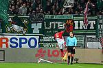 04.11.2018, Opel-Arena, Mainz, GER, 1 FBL, 1. FSV Mainz 05 vs SV Werder Bremen, <br /> <br /> DFL REGULATIONS PROHIBIT ANY USE OF PHOTOGRAPHS AS IMAGE SEQUENCES AND/OR QUASI-VIDEO.<br /> <br /> im Bild: Jean-Philippe Mateta (#9, FSV Mainz) jubelt ueber sein Tor zum 1:0<br /> <br /> Foto © nordphoto / Fabisch