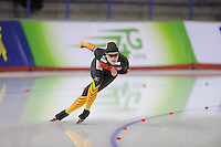SCHAATSEN: CALGARY: Olympic Oval, 08-11-2013, Essent ISU World Cup, 500m, Denise Roth (GER), ©foto Martin de Jong