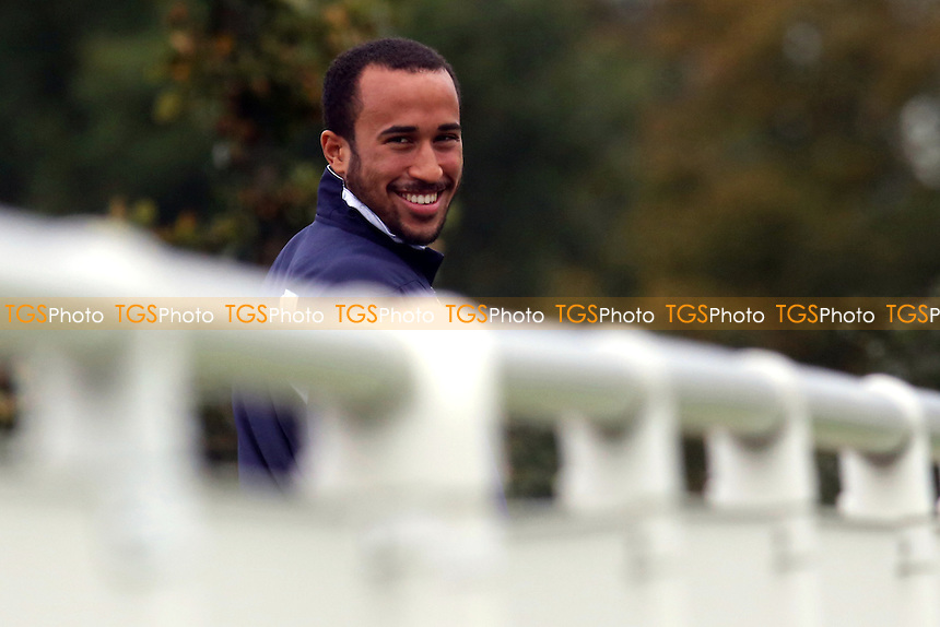 Tottenham's Andros Townsend was in a cheerful mood watching the Under 21's against Leicester - Tottenham Hotspur Under-21 vs Leicester City Under-21 - Barclays Under-21 Premier League Football - 21/10/13 - MANDATORY CREDIT: Paul Dennis/TGSPHOTO - Self billing applies where appropriate - 0845 094 6026 - contact@tgsphoto.co.uk - NO UNPAID USE
