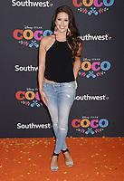LOS ANGELES, CA - NOVEMBER 08: Model/TV host Nia Sanchez arrives at the premiere of Disney Pixar's 'Coco' at El Capitan Theatre on November 8, 2017 in Los Angeles, California.<br /> CAP/ROT/TM<br /> &copy;TM/ROT/Capital Pictures