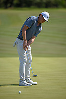 Cody Gribble (USA) watches his putt on 8 during Round 1 of the Valero Texas Open, AT&amp;T Oaks Course, TPC San Antonio, San Antonio, Texas, USA. 4/19/2018.<br /> Picture: Golffile | Ken Murray<br /> <br /> <br /> All photo usage must carry mandatory copyright credit (&copy; Golffile | Ken Murray)