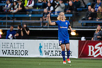 Seattle, Washington -  Sunday, September 11 2016: Seattle Reign FC midfielder Beverly Yanez (17) )during a regular season National Women's Soccer League (NWSL) match between the Seattle Reign FC and the Washington Spirit at Memorial Stadium. Seattle won 2-0.