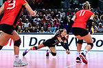 25.08.2018, …VB Arena, Bremen<br />Volleyball, LŠ&auml;nderspiel / Laenderspiel, Deutschland vs. Niederlande<br /><br />Abwehr Lenka DŸrr / Duerr (#1 GER) / Libero<br /><br />  Foto &copy; nordphoto / Kurth