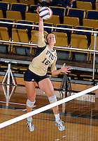 Florida International University women's volleyball player Jovana Bjelica (16) plays against Arkansas State University.  FIU won the match 3-2 on October 21, 2011 at Miami, Florida. .