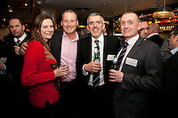 Pictured from left are Anne-Marie Hunt from Natwest, Mike Dodson of Santander, Tim Corthorn of Nat West and Paul White of RBS