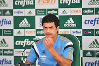 SÃO PAULO,SP, 18.08.2015 - FUTEBOL-PALMEIRAS - Egidio do Palmeiras durante entrevista coletiva na Academia de Futebol na Barra Funda zona oeste, nesta terça-feira 18. (Foto: Bruno Ulivieri/Brazil Photo Press)