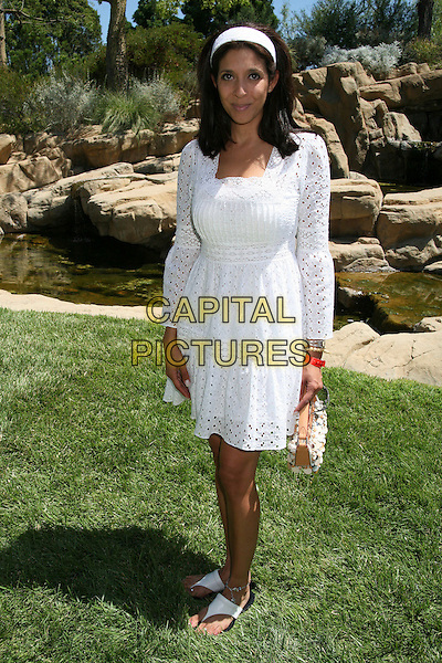 "CHRISTINE DEVINE (Fox11 anchor).Fulfillment Fund's 5th Annual ""Summer Splash"" Benefit for Bright Future Scholarships, Beverly Hills, California, USA..August 6th, 2006.Photo: Byron Purvis/AdMedia/Capital Pictures.Ref: ADM/BP.full length white dress.www.capitalpictures.com.sales@capitalpictures.com.©Byron Purvis/AdMedia/Capital Pictures."
