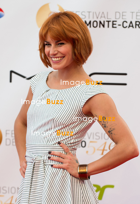 Fauve Hautot arrives at the opening ceremony of the 54th Monte-Carlo Television Festival on June 7, 2014 in Monte-Carlo, Monaco.