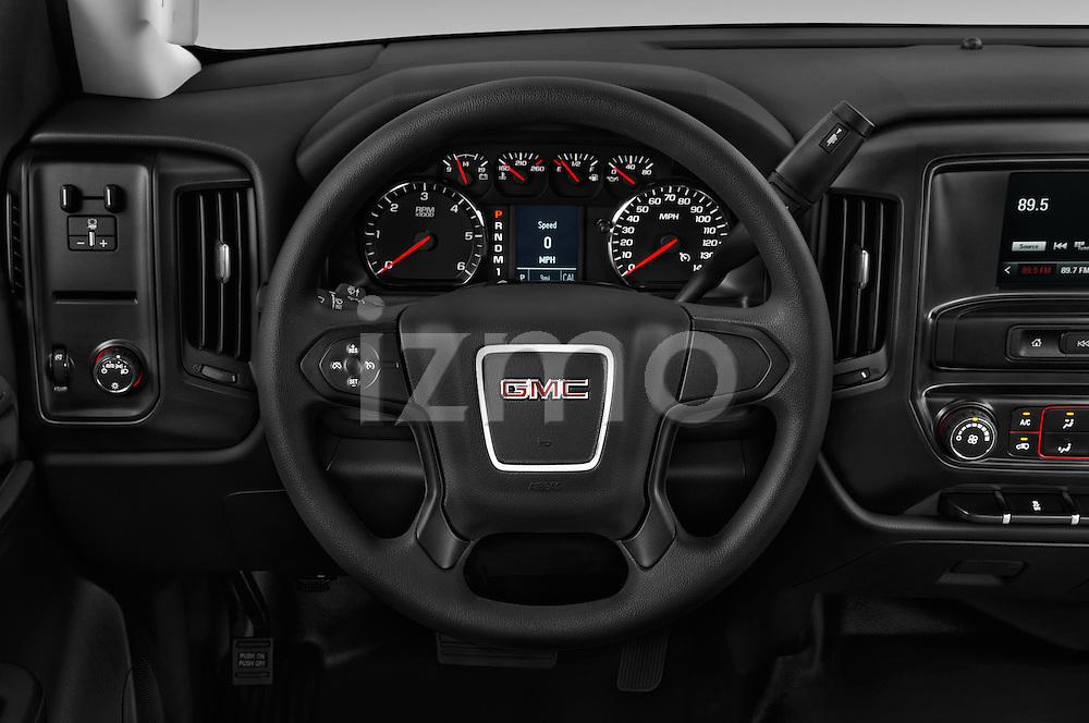 Car pictures of steering wheel view of a 2016 GMC Sierra-2500HD 2WD-Regular-Cab-Long-Box 2 Door Pick-up Steering Wheel