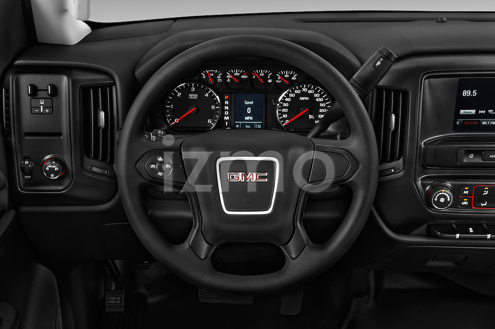 Car pictures of steering wheel view of a 2018 GMC Sierra-2500HD 2WD-Regular-Cab-Long-Box 2 Door Pick-up Steering Wheel