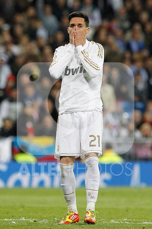 Real Madrid's Javier Callejon during la Liga match on march 18th 2012...Photo: Alex Cid-Fuentes / ALFAQUI