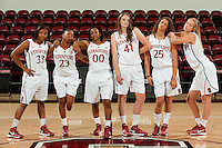 STANFORD, CA-SEPTEMBER 19, 2012 - Women's Basketball team photos.