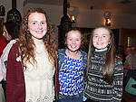 Amy McGeough, Alanah Tinnelly and Ciara McNally pictured at the Louth Ladies Awards night in Watters of Collon. Photo:Colin Bell/pressphotos.ie
