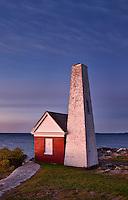 Pemaquid Point Light Station Fog Bell House, Muscongus Bay, Bristol, Maine, USA. 1827