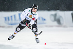 Uppsala 2014-01-12 Bandy  IK Sirius - GAIS Bandy :  <br />  GAIS Martin Andreasson i aktion i sn&ouml;v&auml;dret under matchen<br /> (Foto: Kenta J&ouml;nsson) Nyckelord:  portr&auml;tt portrait sn&ouml;