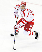 Brandon Fortunato (BU - 25) - The Boston University Terriers defeated the visiting University of Connecticut Huskies 4-2 (EN) on Saturday, October 24, 2015, at Agganis Arena in Boston, Massachusetts.