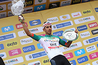 TUNJA - COLOMBIA, 15-02-2020: Sebastian Molano (COL) UAE TEAM EMIRATES, ganador de la quinta etapa del Tour Colombia 2.1 2020 con un recorrido de 180,5 km que se corrió entre Paipa, Boyacá, y Zipaquirá, Cundinamarca. / Sebastian Molano (COL) UAE TEAM EMIRATES, winner of the fifth stage of 180,5 km as part of Tour Colombia 2.1 2020 that ran between Paipa, Boyaca, y Zipaquirá, Cundinamarca.  Photo: VizzorImage / Darlin Bejarano / Cont