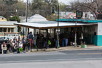 Ever day this popular East Austin barbecue joint in East Austin sells out, so many customers arrive before sunrise, reserving their place in line.