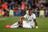 6th February 2020; Estadio Santiago Bernabeu, Madrid, Spain; Copa Del Rey Football, Real Madrid versus Real Sociedad; Vinicius Junior (Real Madrid) left dumped on the pitch due to a tackle