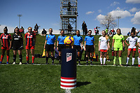Commerce City, CO - Sunday April 28, 2019: U.S. Soccer Development Academy U-15 Girls Spring Showcase match between Lonestar SC Academy vs Washington Spirit Academy at Dick's Sporting Goods Park.