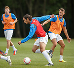 Bilel Mohsni on trial at the Rangers Football training ground