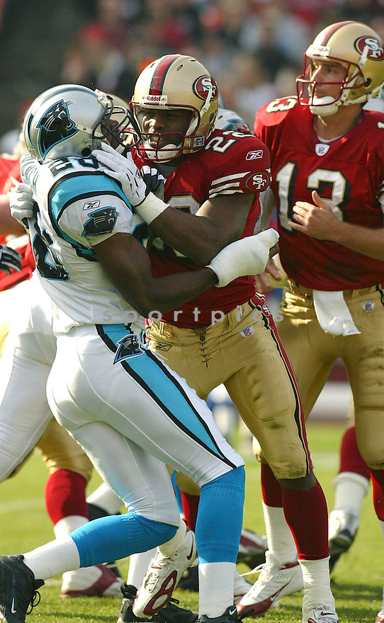 Terry Jackson during the San Francisco 49ers v. Carolina Panthers game on November 14, 2004...Panthers win 37-27..Rob Holt / SportPics