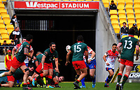 Piri Weepu passes during the Heartland Championship rugby match between Horowhenua Kapiti and Wairarapa Bush at Westpac Stadium in Wellington, New Zealand on Sunday, 1 October 2017. Photo: Dave Lintott / lintottphoto.co.nz