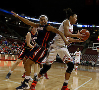 Ohio State Buckeyes forward Martina Ellerbe (23) grabs a rebound from Tennessee Martin Skyhawks guard Heather Butler (11) in the second half at Value City Arena in Columbus Dec. 17, 2013.(Dispatch photo by Eric Albrecht)