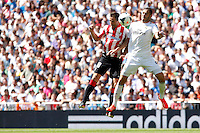 Real Madrid's Benzema (R) and Athletic Club's Gurpegui during La Liga Match. September 01, 2013. (ALTERPHOTOS/Caro Marin) <br /> Football Calcio 2013/2014<br /> La Liga Spagna<br /> Foto Alterphotos / Insidefoto <br /> ITALY ONLY