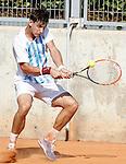 Argentina's Camilo Ugo Carabelli during Junior Davis Cup 2015 match. September  30, 2015.(ALTERPHOTOS/Acero)