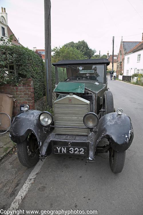 Restoring classic vintage cars, Fisher's  garage, Walberswick, Suffolk, England