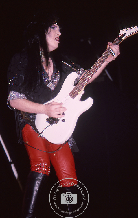 Mick Mars of Motley Crue at Madison Square Garden Aug 1985.