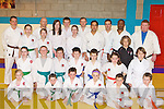 Killorglin Shotokan Karate School members who will be competing in a International Karate tournament in Ardee, Co. Louth on the 23 April front row l-r: Cadhla Piggot, Ethan Coffey, Cormac Doyle, Sarah Williams, Liam Nidgger, Oisin Quirke. Middle row: Alanna Piggot, Daragh O'Shea, Shane Corkery, David Moriarty, Fionn Nidgger, Rhiannon O'Donoghue, Charolette Dourieu, Kris Mulevicius. Back row: Dana Schroderova, Zoe Dourieu, Mark Dourieu, Claire Dourieu, Shannon O'Shea, Tomas Etherington, Denise Piggot, Tomas Quirke, Charles Neri, Jiri Bezobohaty, Moise Gehna and Damian Healy .