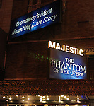 Theatre Marquee for 'Phantom of the Opera' - 25 Years on Broadway Gala Performance at the Majestic Theatre in New York City on 1/26/2013