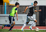 Aleksandar Randelovic of Sun Pegasus FC (L) followed by  Ngai Tong Lam of Wofoo Tai Po (R) during the HKFA Premier League between Wofoo Tai Po vs Sun Pegasus at the Tai Po Sports Ground on 22 November 2014 in Hong Kong, China. Photo by Aitor Alcalde / Power Sport Images