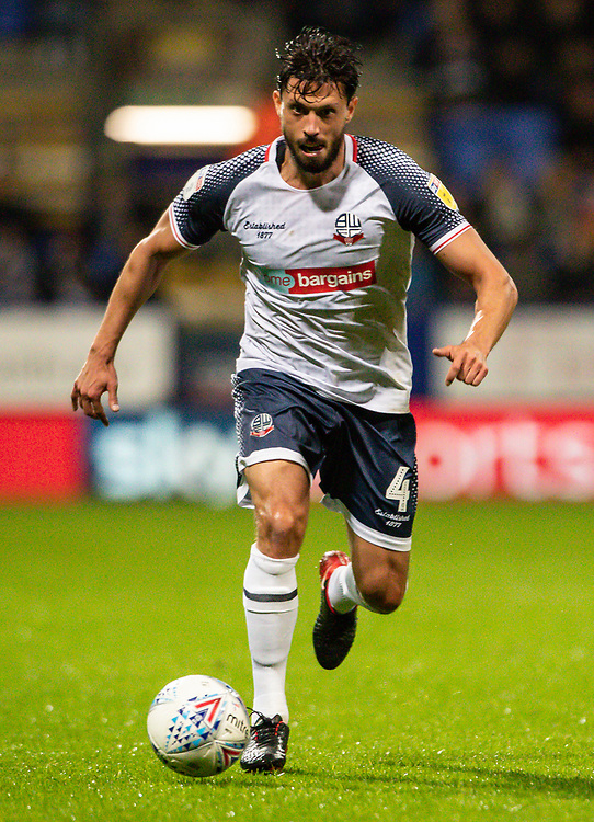 Bolton Wanderers' Jason Lowe breaks<br /> <br /> Photographer Andrew Kearns/CameraSport<br /> <br /> The EFL Sky Bet League One - Bolton Wanderers v Blackpool - Monday 7th October 2019 - University of Bolton Stadium - Bolton<br /> <br /> World Copyright © 2019 CameraSport. All rights reserved. 43 Linden Ave. Countesthorpe. Leicester. England. LE8 5PG - Tel: +44 (0) 116 277 4147 - admin@camerasport.com - www.camerasport.com
