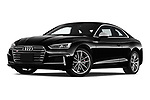 Stock pictures of low aggressive front three quarter view of 2018 Audi S5 Premium-Plus 2 Door Coupe Low Aggressive