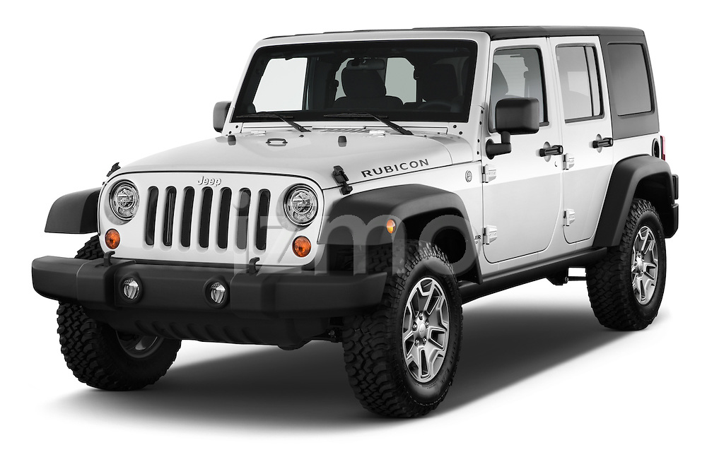 2017 JEEP Wrangler-Unlimited Rubicon 5 Door SUV Angular Front stock photos of front three quarter view