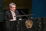 IRAN<br /> <br /> General Assembly 70th session:  62nd plenary meeting<br /> 1. Question of Palestine [item 38]<br /> (a) Report of the Committee on the Exercise of the Inalienable Rights of the Palestinian People (A/70/35)<br /> (b) Report of the Secretary-General (A/70/354)<br /> (c) Draft resolutions (A/70/L.10, A/70/L.11, A/70/L.12 and A/70/L.13)<br /> 2. The situation in the Middle East [item 37]<br /> (a) Report of the Secretary-General (A/70/353)<br /> (b) Draft resolutions (A/70/L.14 and A/70/L.17)
