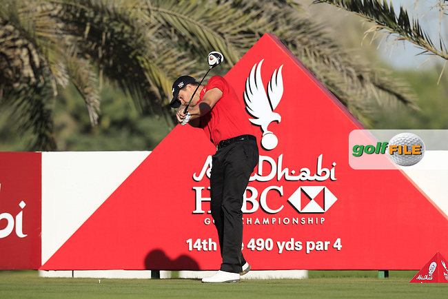 Andreas Harto (DEN) tees off the 14th tee during Friday's Round 2 of the Abu Dhabi HSBC Golf Championship at Abu Dhabi Golf Club, 18th January 2013 (Photo Eoin Clarke/www.golffile.ie)