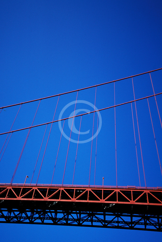 California, San Francisco Bay, Golden Gate Bridge from below