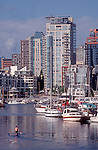 Vancouver, False Creek, Highrise condos, West End neighborhood, British Columbia, Canada.