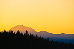 Sunset on Mount Lassen, Northern California.