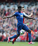 Arsenal's Aaron Ramsey tussles with Manchester United's Axel Tuanezbe during the Premier League match at the Emirates Stadium, London. Picture date: May 7th, 2017. Pic credit should read: David Klein/Sportimage