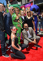"Halsey, Khary Payton, Scott Melville, Greg Cipes, Hynden Walch, Tara Strong, Kristen Bell & Sam Register at the premiere for ""Teen Titans Go! to the Movies"" at the TCL Chinese Theatre, Los Angeles, USA 22 July 2018<br /> Picture: Paul Smith/Featureflash/SilverHub 0208 004 5359 sales@silverhubmedia.com"